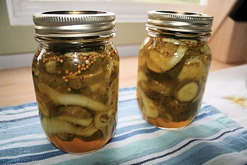 Bread and butter pickle canning recipes