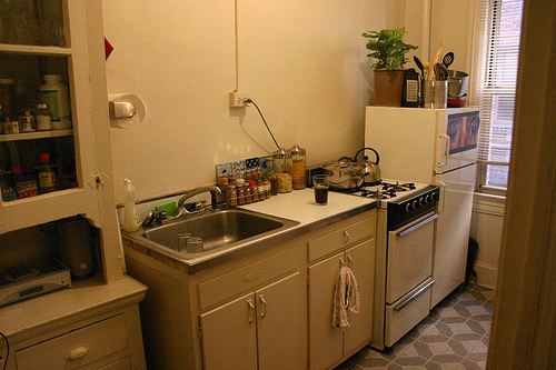 My tiny kitchen the arugula files for Pictures of tiny kitchens