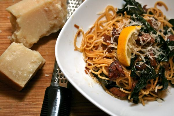 Conquering Kale with Molly (Braised Kale with Spaghetti and Chorizo ...