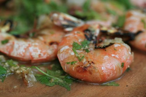 Grilled Shrimp with Cilantro, Lime, and Peanuts - the arugula files