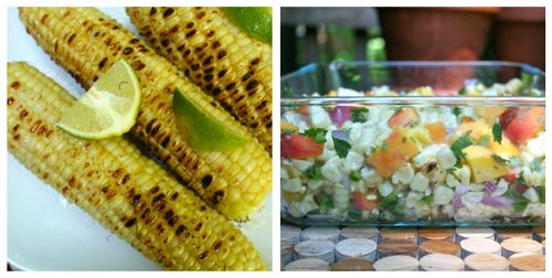 Corn and salad